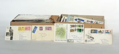 Two boxes of GB pre-decimal First Day Covers and presentation packs (2)