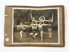 Photograph album containing photographs of Aberystwyth 1919,Clarach Bay, Exmouth 1924 and other