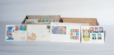 Two boxes of over 100 Queen Elizabeth II First Day Covers (2 boxes)