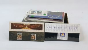 Box of many GB presentation packswith a face value of £80 plus