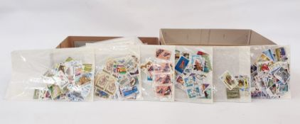 Two boxes of loose stamps and coversincluding packet of penny reds (2)