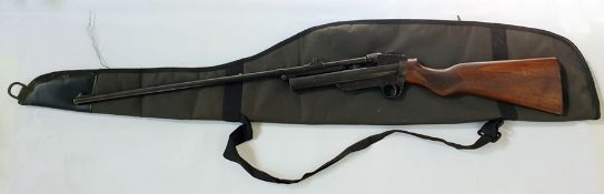 A Webley service air rifle by Webley and Scott, Birmingham patent number 371548 with green canvas