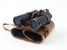 Pair Carl Zeiss 15x60 binocularsin leather case,a pair of Lieberman Vistar binoculars and a