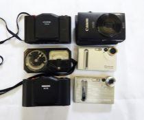 Two Mamiya lenses(one with case), a Minox 35 GL camera, a Kneb 35A camera, a Weston model 650