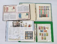 """Mainly GB stamps """"Kings and Queens of England album"""". Some very good German Mint in album (miniature"""