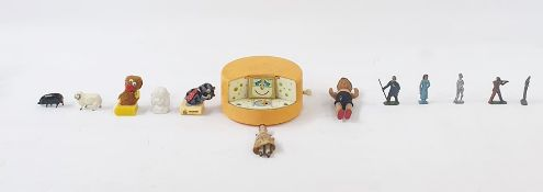 A quantity of children's plastic miniature models of animals and figures, various John Hill