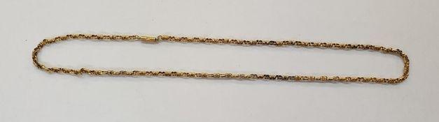 9ct fancy belcher-link chain pattern necklace, 4.4g total approx