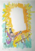 """Quentin Blake (b.1932) Pen, ink and watercolour """"Charlie and Willy Wonka"""", signed in pencil lower"""