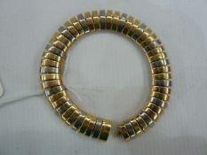 Cartier 18K three-colour gold lunette-link bracelet, no DQ0532, 750 mark, 55g