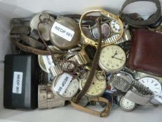 Various modern and old wrist and pocket watches