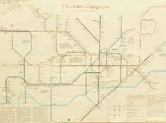 The London Underground framed print, 70cm x 100cm