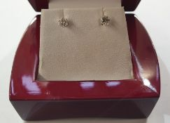 Pair of 18ct white gold solitaire diamond stud earrings, each approx 0.17ct