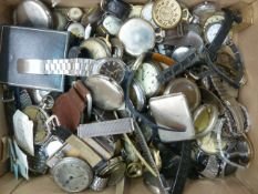 Quantity wristwatches, pocket watches and partsCondition Reportmore images