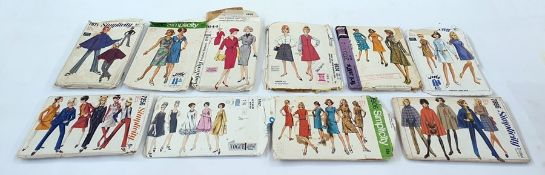 Large quantity of vintage patterns including Simplicity, Vogue, Butterick, etc (1 box)