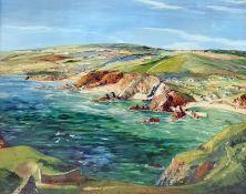 Donald Greig (1916-2009) Oil Coastal landscape, 41.5cm x 52cm