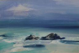 Mary Stork Watercolour Coastal scene, signed lower left, 18.5cm x 25.5cm Condition ReportNo