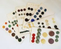 Quantity of mid 20th century bakelite buckles and assorted vintage buttons (some on a card)