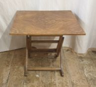 20th century Meredew furniture, square topped folding coffee table