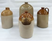 Four stoneware bottles to include a bottle marked Joseph Bowden, Wine & Spirit Merchant,