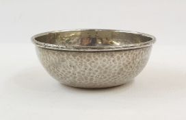 Tudric Liberty & Co pewter hammered bowl, no.0858, 11cm diameter