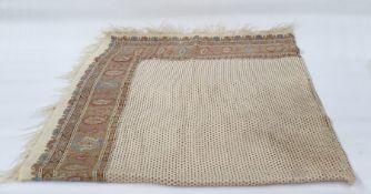 Large cream shawlwith paisley border
