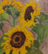 J. Trotter Watercolour Sunflowers, signed lower right, 50 x 40cmCondition ReportPicture is framed.