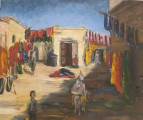 W.G. Scott-Brown 'Bill' (1897-1987) Acrylic on canvas Dyers' souk Marrakech, unsigned and