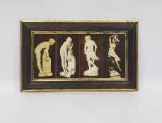 Ceramic tile picture of four female statuary nudes