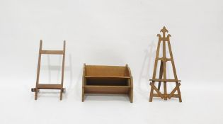 Asprey stained wood small book rest and two fine stained wood miniature table-top easels (3)