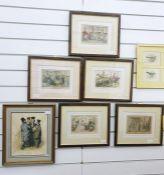 After John Leech, Set of six coloured engravings