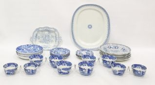 Quantity of Spode 'Italian' pattern teaware, four Spode Blue Room  Collection 'Sunflower' pattern