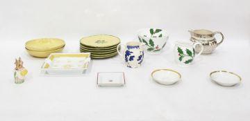 Highgrove porcelain jug and basin'Festive Holly' pattern, Emma Bridgewater spongeware jug, Royal