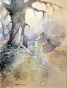 H. Royston Hudson Watercolour drawing Landscape, signed H. Royston Hudson and framed