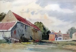 Edward Billin (1911-1995) (attr) Watercolour drawi