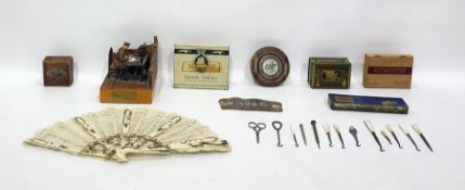 Metal and wooden model sceneof WWI army officer s