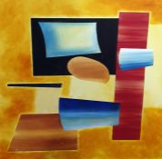 Unattributed oil on canvas Modernist - 100cms square