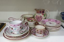 Small quantity of Sunderland lustre to include jug