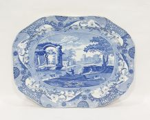 19th century Spode large earthenware meat dish, ob