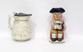 19th century Staffordshire pottery Toby jug in the