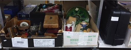 Quantity of collectables including flower presses,