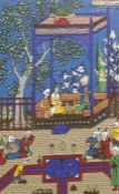 Five various framed printsof Persian scenes (5)