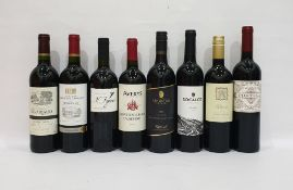 Eight bottles of mixed red wine to include Averys of Bristol Montepulciano d'Abruzzo 2016 and