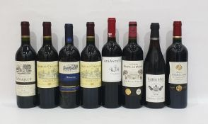 Eight bottles of mixed red wine to include Chateau Franc Le Maine 2010 Saint-Emilion Grand Cru and