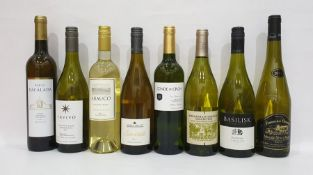 Eight bottles of assorted white wine to include Portuguese Porta Dacalada (2016) and Joseph Mellot