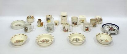 "Large quantity Royal Doulton ""Bunnykins"" nurseryware, Wedgwood and other nurseryware and a Beswick"