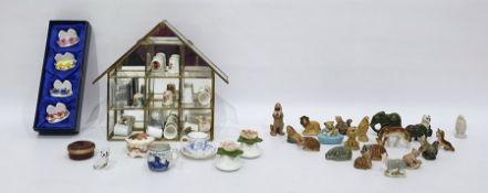 Quantity of Wade porcelain miniatures, sundry decorated thimbles and other decorative ceramics