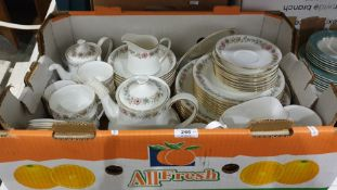 Part-dinner service by Paragon in the 'Belinda' pattern to include cups, saucers, teapot, plates and