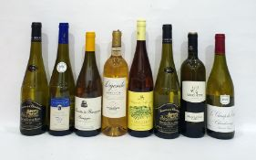 Eight bottles of assorted white wine to include Le Champ des Etoiles Chardonnay 2014 and Legende