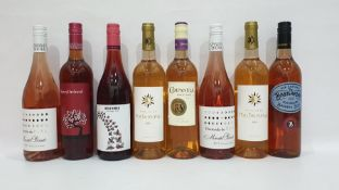 Eight bottles of assorted rose wine to include Bob Berton's 'The Barbarian' 2017 Australia and