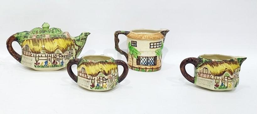Lot 62 - Five items of Cottagewareto include:- Vintage three piece tea set by Lingard Webster (& Co Ltd),